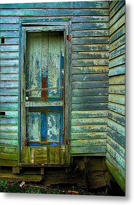 The Old Blue Door Metal Print by Julie Dant