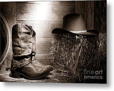 The Old Boots Metal Print by Olivier Le Queinec