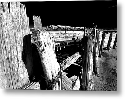 The Old Corral Metal Print by Cat Connor
