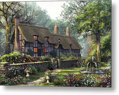 The Old Cottage Metal Print by Dominic Davison