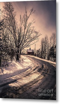 The Old Farm Down The Road Metal Print by Edward Fielding