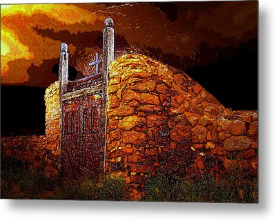 The Old Gates Of Galisteo Metal Print by David Lee Thompson
