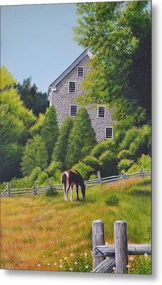 The Old Grist Mill Metal Print by Dave Hasler