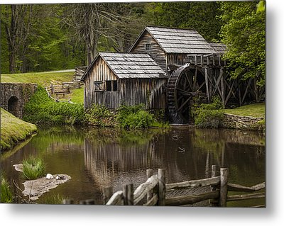 The Old Mill After The Rain Metal Print by Amber Kresge