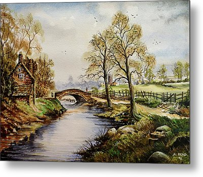 The Old Mill Path Metal Print by Andrew Read