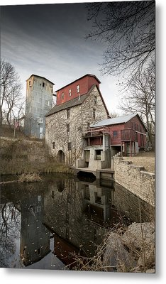 The Old Oxford Mill Metal Print by Chris Harris