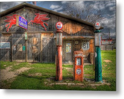 The Old Service Station Metal Print by David and Carol Kelly