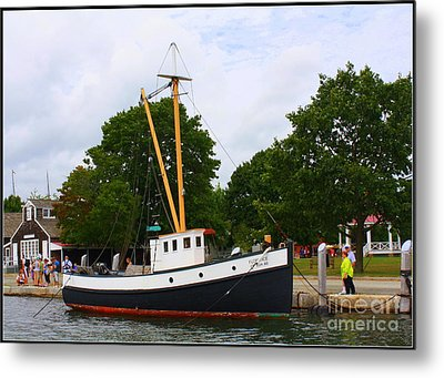 The Old Tugboat At Mystic Metal Print by Dora Sofia Caputo Photographic Art and Design