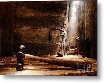 The Old Workshop Metal Print by Olivier Le Queinec