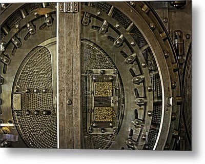 The Other Side Of The Vault Door Metal Print by Image Takers Photography LLC - Carol Haddon