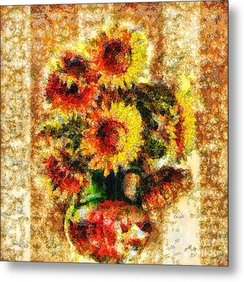 The Other Sunflowers Metal Print by Mo T
