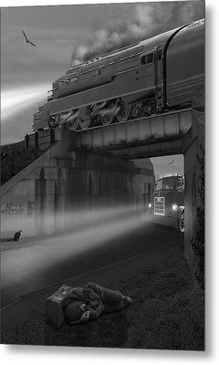 The Overpass Metal Print by Mike McGlothlen
