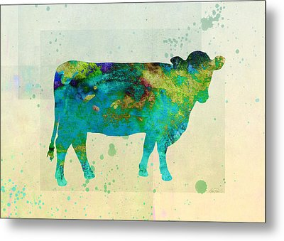 The Painted Cow  Metal Print by Ann Powell