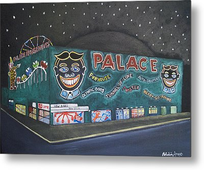 The Palace At Night Metal Print by Patricia Arroyo