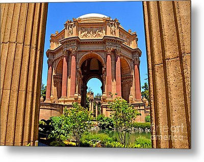 The Palace Of Fine Arts In The Marina District Of San Francisco Metal Print by Jim Fitzpatrick