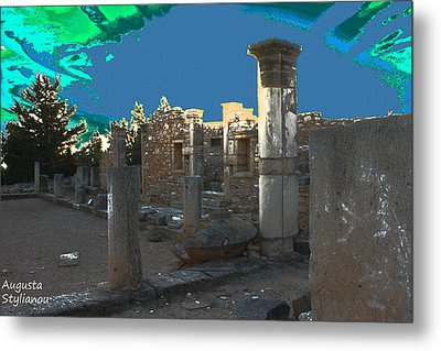 The Palaestra -temple Of Apollo Metal Print by Augusta Stylianou