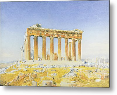The Parthenon Metal Print by Thomas Hartley Cromek