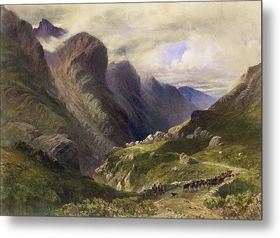 The Pass Of Glencoe, 1852 Metal Print by William Bennett