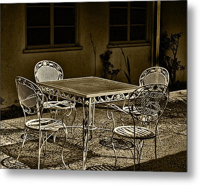 The Patio Metal Print by Camille Lopez
