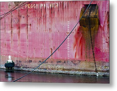 The Peggy Palmer Barge Metal Print by Carolyn Marshall
