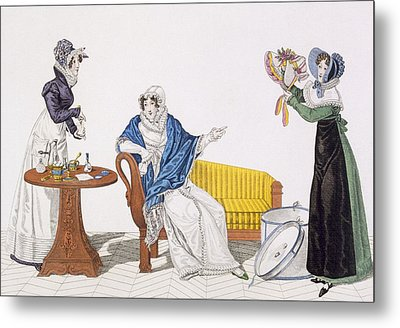 The Perfect Cure Or, The Hat Metal Print by French School