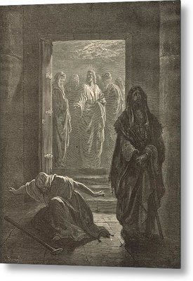 The Pharisee And The Publican Metal Print by Antique Engravings