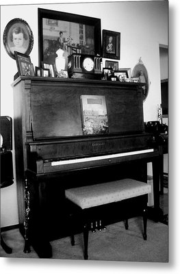 The Piano And Clarinet  Metal Print by Peggy Leyva Conley