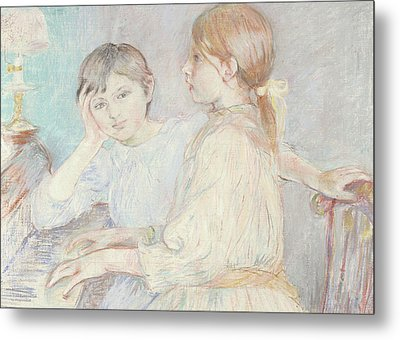 The Piano Metal Print by Berthe Morisot