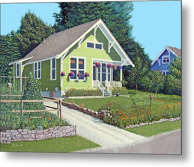 Our Neighbour's House Metal Print by Gary Giacomelli