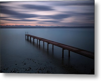 The Pier Before Sunrise  Metal Print by Dominique Dubied