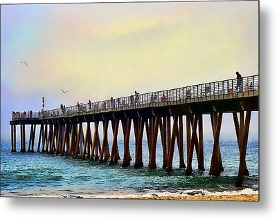 The Pier Metal Print by Camille Lopez
