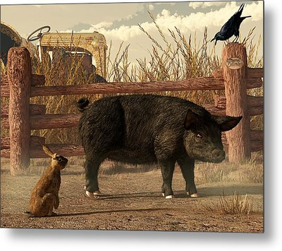 The Pig And The Hare Metal Print by Daniel Eskridge