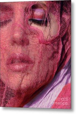 The Pink Scarf Metal Print by Jeff Breiman