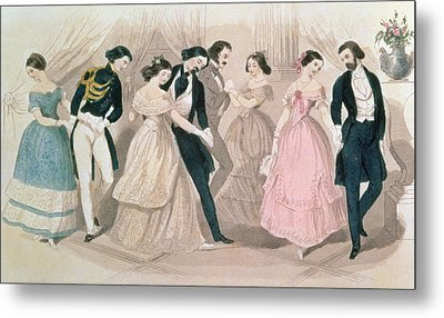 The Polka Fashions Metal Print by English School