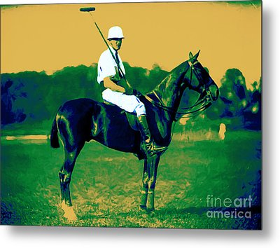 The Polo Player - 20130208 Metal Print by Wingsdomain Art and Photography