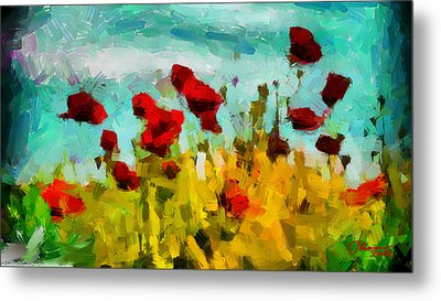 The Poppy Field Tnm Metal Print by Vincent DiNovici