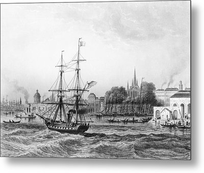 The Port Of New Orleans Metal Print by Charles de Lalaisse