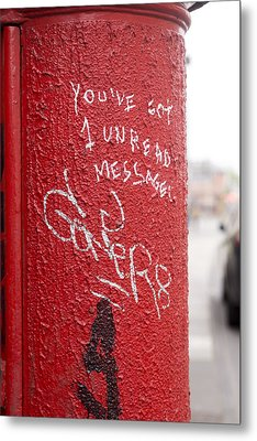 The Post Box With Messages Metal Print by Aston Peters