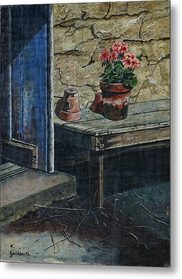 The Potting Bench Metal Print by William Goldsmith