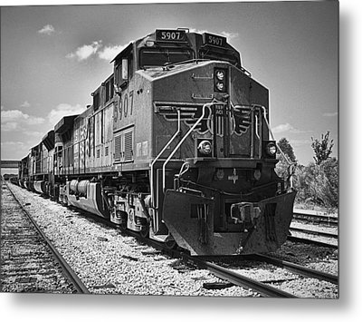 The Powerhouse Black And White Metal Print by Wendy J St Christopher