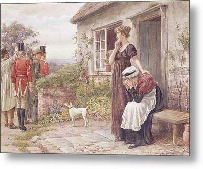 The Press Gang Metal Print by George Goodwin Kilburne