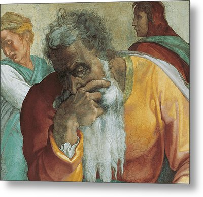 The Prophet Jeremiah Metal Print by Michelangelo