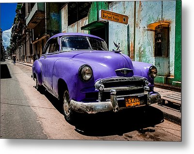The Purple Boomer  Metal Print by Cecil K Brissette