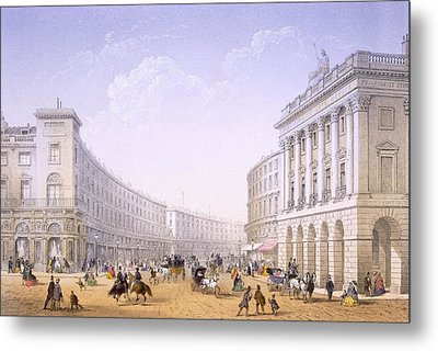 The Quadrant And Regent Street, London Metal Print by Achille-Louis Martinet