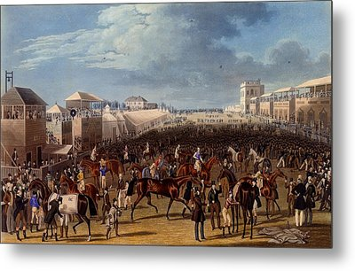 The Race Over, Print Made By Charles Metal Print by James Pollard