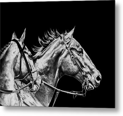 The Racers Metal Print by Camille Lopez