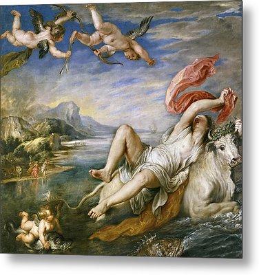 The Rape Of Europa Metal Print by Peter Paul Rubens