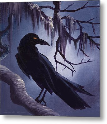 The Raven Metal Print by James Christopher Hill