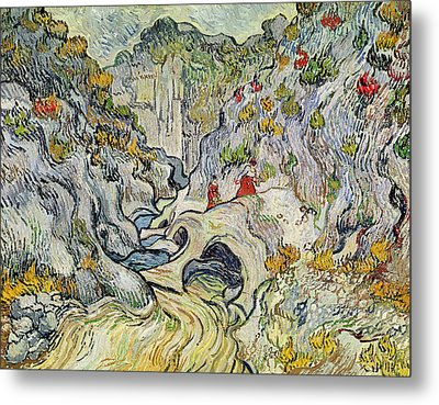 The Ravine Of The Peyroulets Metal Print by Vincent van Gogh