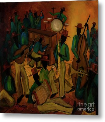 The Red Hat Octet And Friends Metal Print by Larry Martin